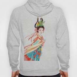 Watercolor Chinese Beauty -  Dunhuang Hoody