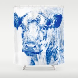 Ardnamuchan Coo - Blue Shower Curtain