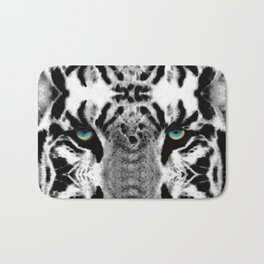 Dressed To Kill - White Tiger Art By Sharon Cummings Bath Mat