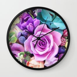 Romantic garden III Wall Clock