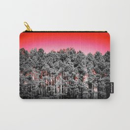 Gray Trees Candy Apple red Sky Carry-All Pouch