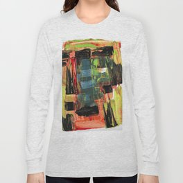 Step Through the Portal Abstract Contemporary Painting Long Sleeve T-shirt
