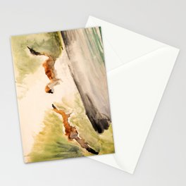 Stoat in the sunset (watercolor) Stationery Cards