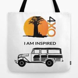 I AM INSPIRED LAND CRUISER 55 Tote Bag