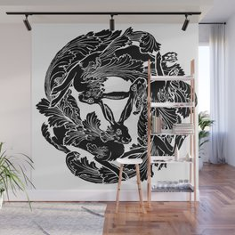 The Three Hares Wall Mural