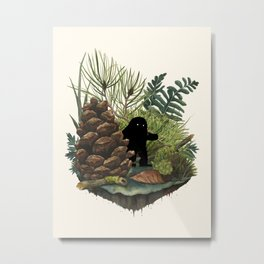 Tiny Sasquatch Metal Print