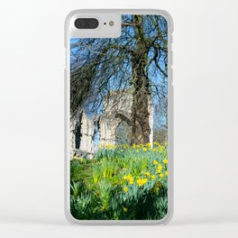 Spring in Museum Gardens Clear iPhone Case