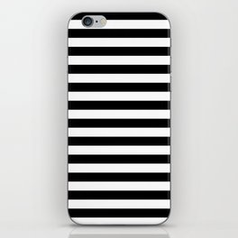 Black and White Horizontal Strips iPhone Skin