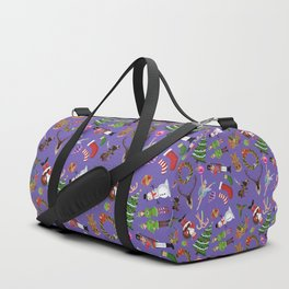 The Elements of Christmas (Pattern) (Purple) Duffle Bag