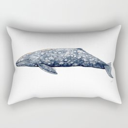 Grey whale Rectangular Pillow