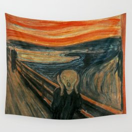 The Scream by Edvard Munch, circa 1893 Wall Tapestry