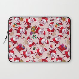 Santa Gift Pattern Laptop Sleeve