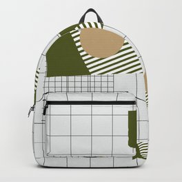 Checks Lines Grid Backpack