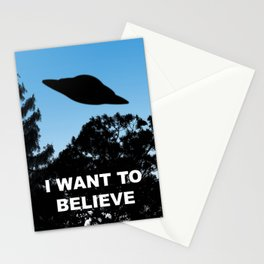 I Want to Believe poster Stationery Cards