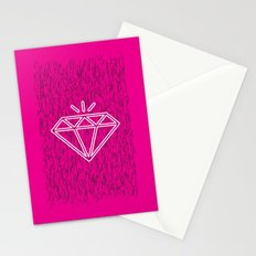 diamond magenta Stationery Cards