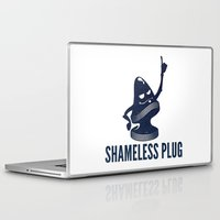 shameless Laptop & iPad Skins featuring Shameless Plug by John W. Hanawalt