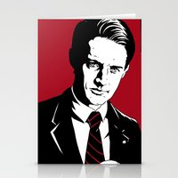 dale cooper Stationery Cards featuring Agent Dale Cooper, FBI by Shawn Dubin