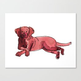 Finley - Dog Watercolour Canvas Print