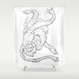 we all fall down Shower Curtain