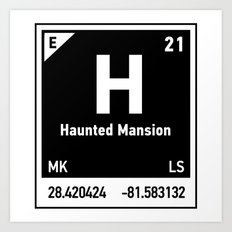 elements of H (Haunted Mansion) Art Print