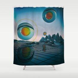 EGG-CB PYROXYLIN Shower Curtain