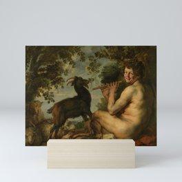 """Jacob Jordaens """"A satyr"""" Mini Art Print"""