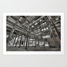 Metallic Structures Art Print