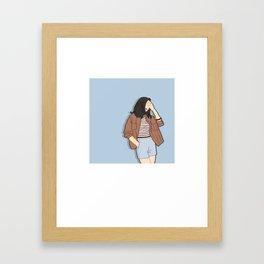 Feeling Blue - OOTD - Fashion Style Art Framed Art Print