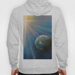 Sun Cross Earth Space Spray Paint Hoody