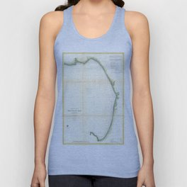 Vintage Map of Monterey Bay California (1857) Unisex Tank Top