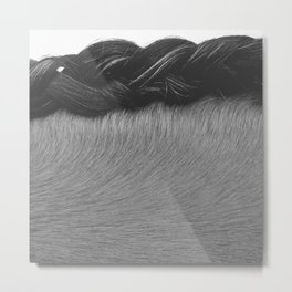 Braided Mane Metal Print