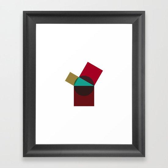 #414 Poppy pythagoras – Geometry Daily Framed Art Print