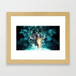 Vegeth super Saiyan god Blue Framed Art Print