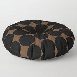 Circular Minimalism - Dark Orange Floor Pillow