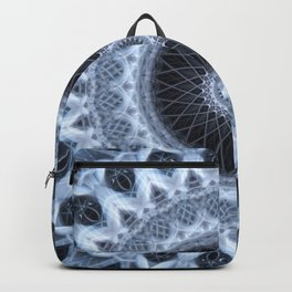 Silver and gray mandala Backpack