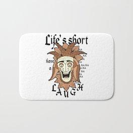 Life's Short have a Laugh Jester Face Bath Mat