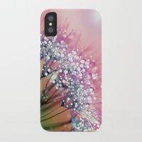 dandelion iPhone & iPod Cases featuring rainbow dandelion by Joke Vermeer