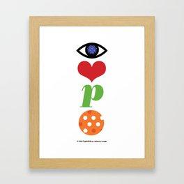 Eye Love P Ball Rebus #2 Framed Art Print