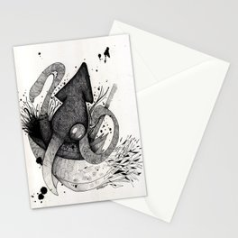 Squid & Ship Stationery Cards