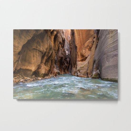 Swept Away (The Narrows, Zion National Park, Utah) Metal Print