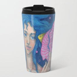 Listening to the Sea Travel Mug
