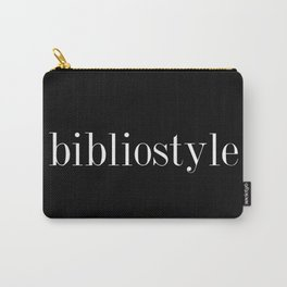 I've got serious bibliostyle... inverted Carry-All Pouch