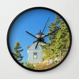 Bass Harbor Lighthouse  Mount Desert Island Maine Photograph Wall Clock