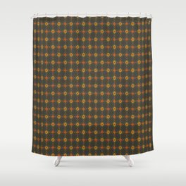 harlequin floral Shower Curtain