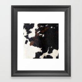 Cowhide Farmhouse Decor Framed Art Print