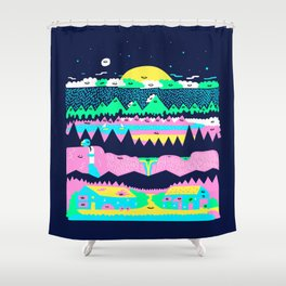 Explore the north Shower Curtain