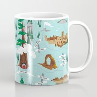 parks and rec Mugs featuring National Parks by Julie's Fabrics & Thingummies