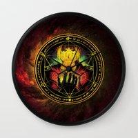 fullmetal Wall Clocks featuring Edward Transmutation Circle by BradixArt