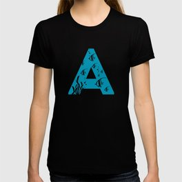 A is for Angelfish - Animal Alphabet Series T-shirt