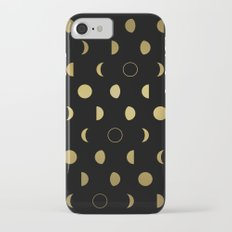 Gold Moon Phases iPhone 8 Slim Case